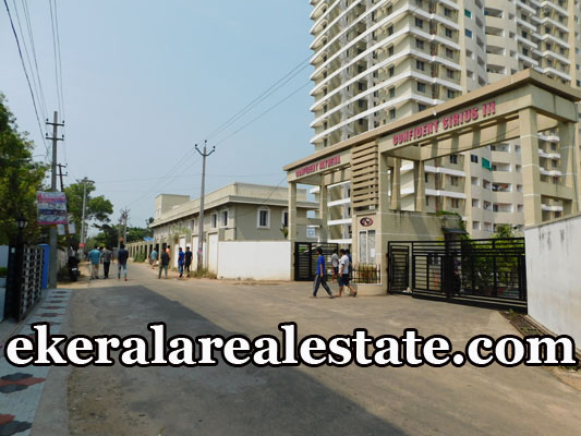 1000 Sqft 3 Bhk Flat Sale at Confident Sirius Menamkulam Kazhakuttom Trivandrum real estate properties sale