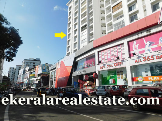 Kowdiar Semi Furnished 3 bhk flat for sale