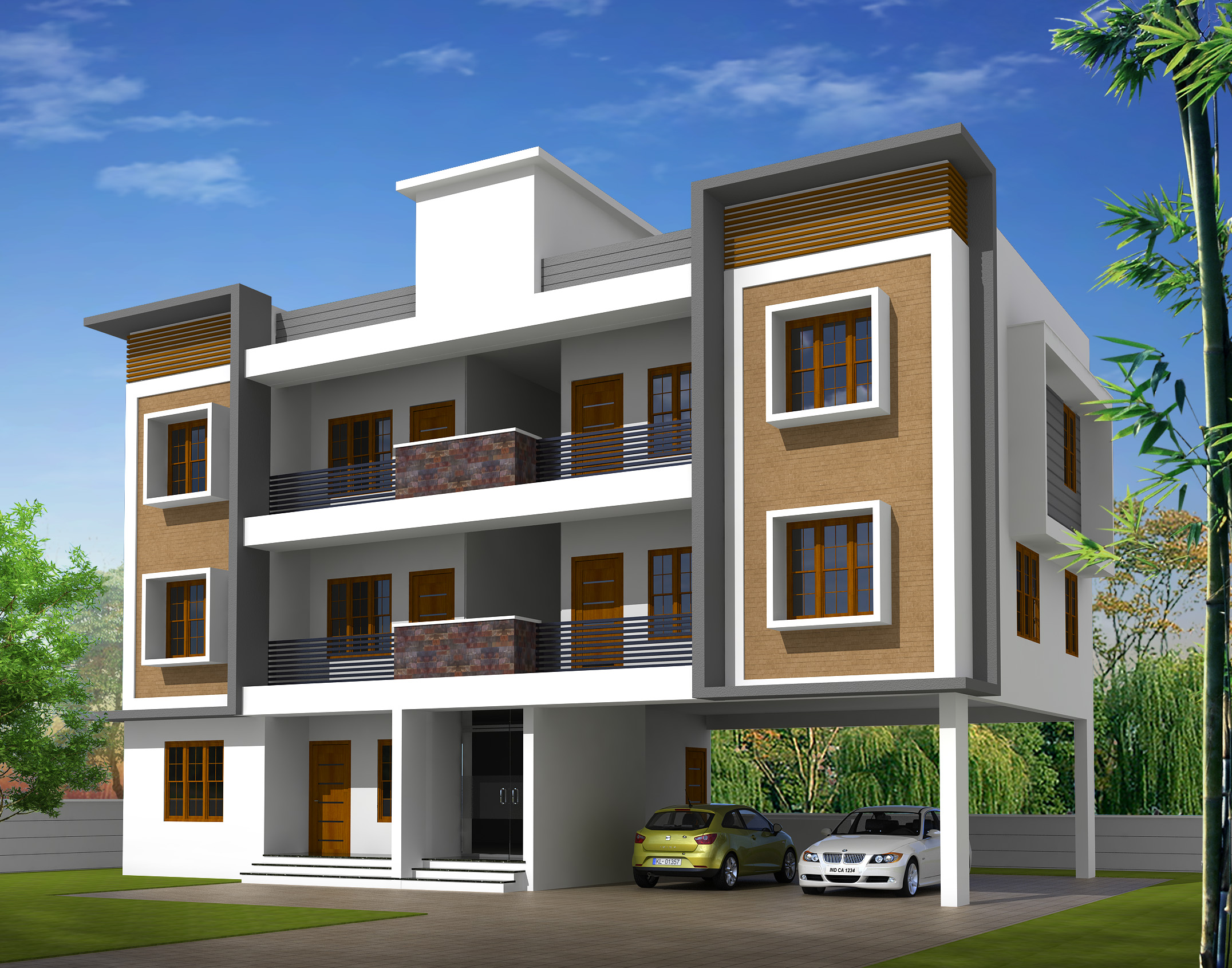 2 bhk low budget new apartments sale at Ambalamukku Trivandrum
